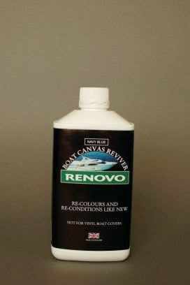 Renovo Boat Canvas Reviver Navy Blue 0.5ltr (1128)