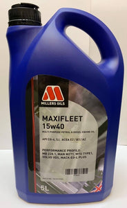 Millers Maxifleet 15W/40 meets Volvo VDS specification