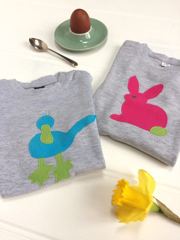 Cute and Cuddly - baby Duck and baby Rabbit T-shirts