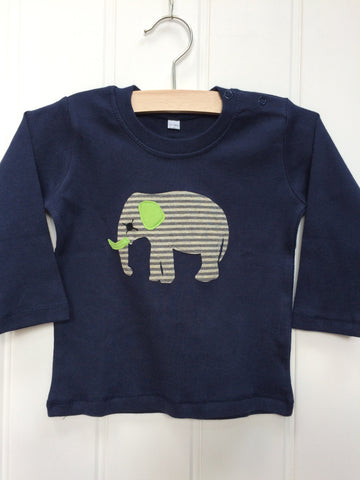 Baby Elephant – Long Sleeved T-shirt - Blue