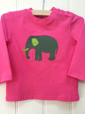 Baby Elephant - Long Sleeved T-shirt - Pink