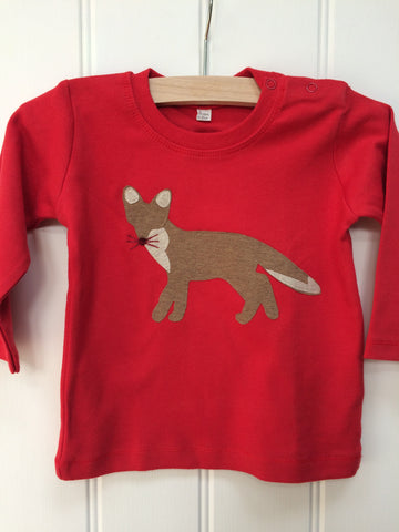 Baby Fox – Long Sleeved T-shirt - Red