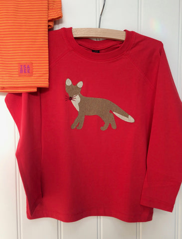 Fox - Long Sleeved T-shirt - Red