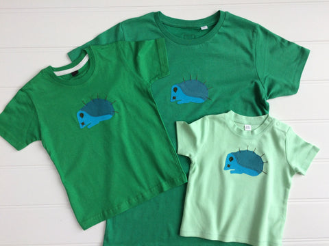 Mum and Child Hedgehog T-Shirt Set