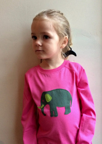 Elephant Long Sleeved T-shirt - Pink