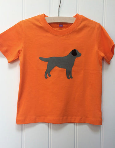 Isabee Labrador t-shirt (Orange) - 100% organic cotton