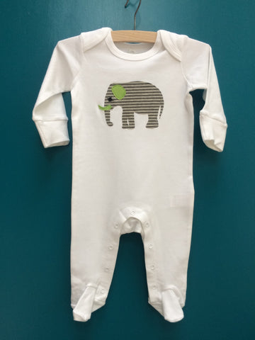 Newborn Elephant Sleepsuit with Mitts