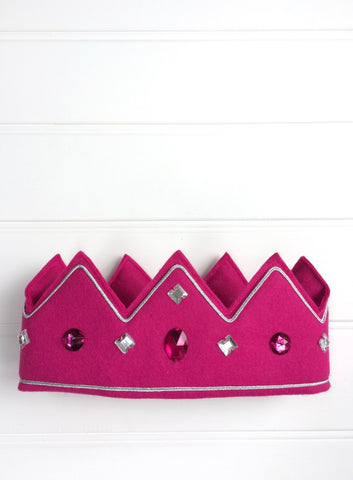 Queen Crown for kids - fuschia pink - handmade by Isabee.co.uk
