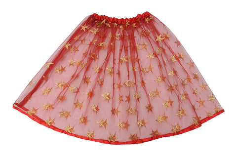 Starry Red Skirt