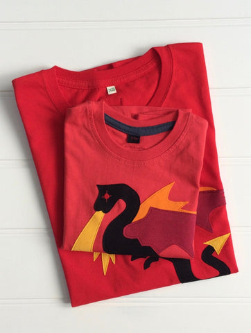 Parent and Child Dragon T-Shirt Set