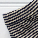 Stripy leggings in Navy and Cream for kids and babies - soft cotton jersey - isabee.co.uk