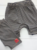 Baby's and Toddler's Shorts - Navy and Cream Stripes
