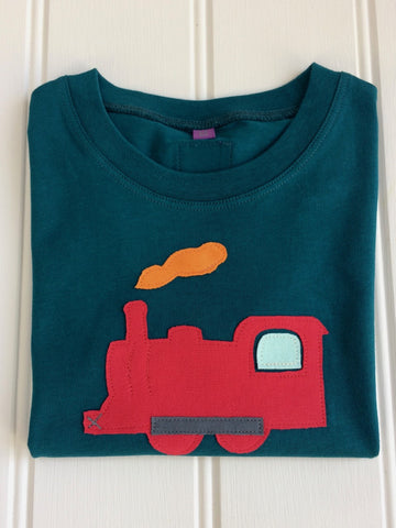 Isabee Train t-shirt (Teal) - 100% organic cotton
