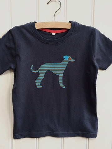 Whippet T-shirt - Washed Navy
