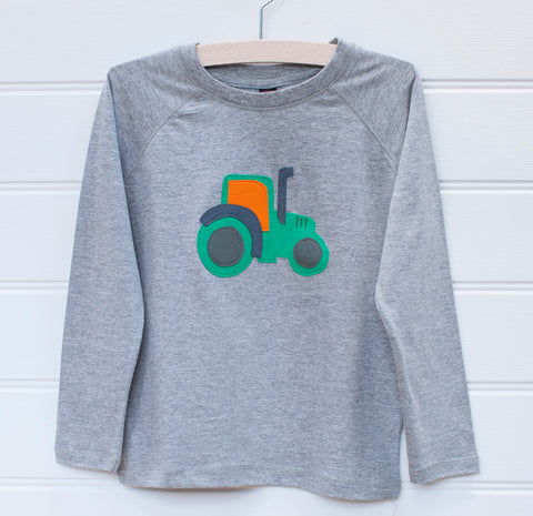 Tractor - Long Sleeved T-shirt - Grey