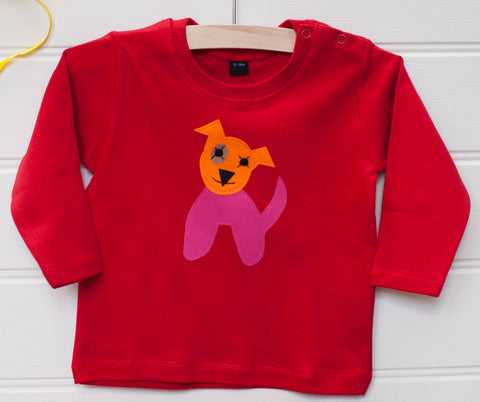 Baby Dog - Long Sleeved T-shirt - Red