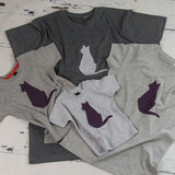 Parent and Child Cat T-Shirt Set
