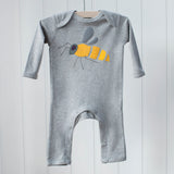 Baby Bee Applique Sleepsuit