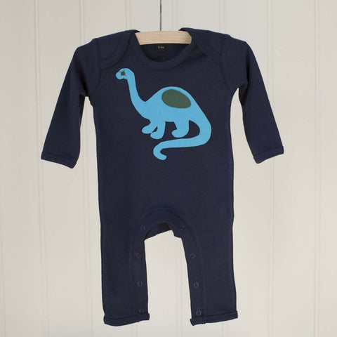 Baby Dinosaur - Long Sleeved Applique Sleepsuit