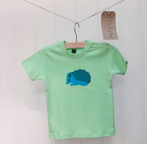 Baby Hedgehog T-shirt - Mint Green
