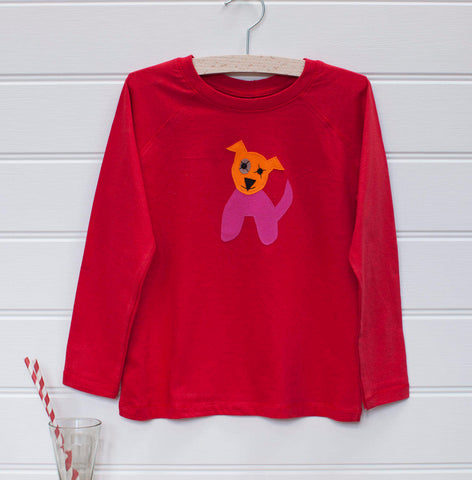 Dog - Long Sleeved T-shirt - Red