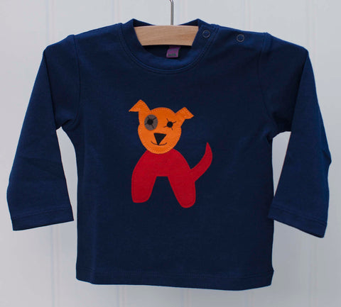Baby Dog - Long Sleeved T-shirt - Blue