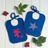 Splat and Star Bib Set - Raspberry
