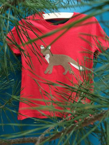 Fox T-shirt - red