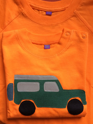 Baby jeep – Long Sleeved T-shirt - Orange