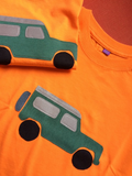 Countryside Fun - baby jeep and Labrador - Long Sleeved T-shirts