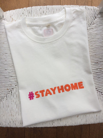 #stayhome Applique T-shirt - unisex