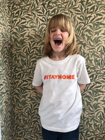 #stayhome T-shirt - Cream
