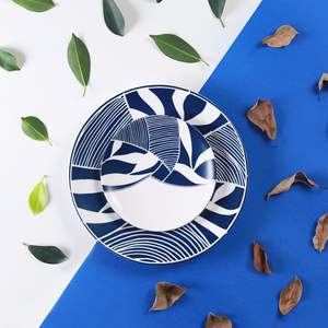 Sea & Blue Leaves – 6 Plate Set