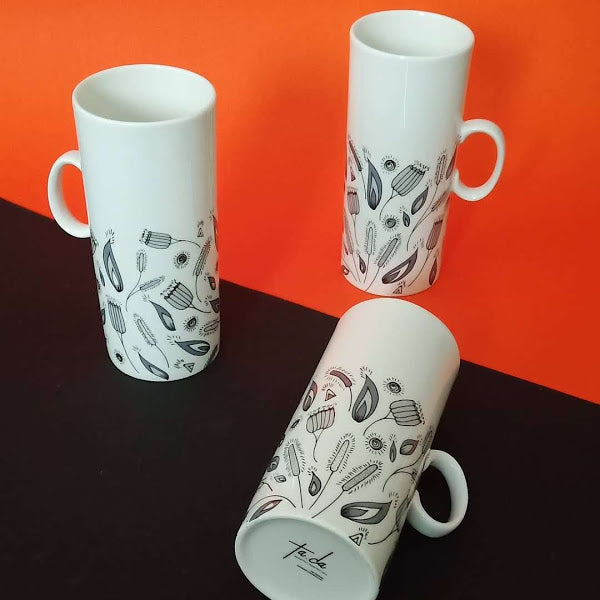 Bloom & Grey - Tall Mug Set
