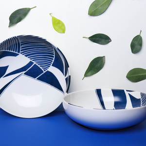 Sea & Blue Leaves – Pasta Bowl