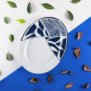 Sea & Blue Leaves – Platter