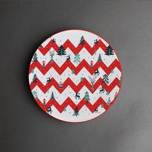 Red Stripes - Decor Plate