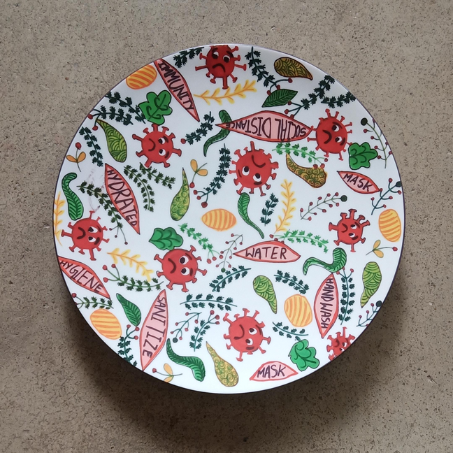 (PRE-ORDER) Wall Decor Plate by Avani Kansal