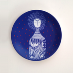 Blue Bottle Lady - Decor Plate