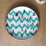 Xmas - Green Strip BLK Quarter Plate
