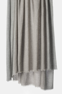 Ete Finely Woven Basket Weave Cashmere Throw Beige / Soft Grey