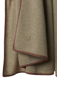 Toscani Framed Cashmere Throw Taupe