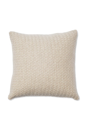 Scala Lattice Cashmere Cushion Cover Beige