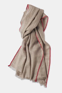 Sonya Cashmere Shawl in Taupe