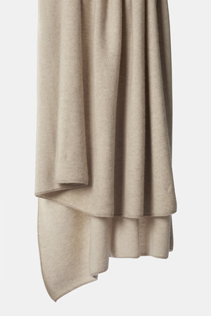 Tano Textured Woven Cashmere Throw Beige / Ivory