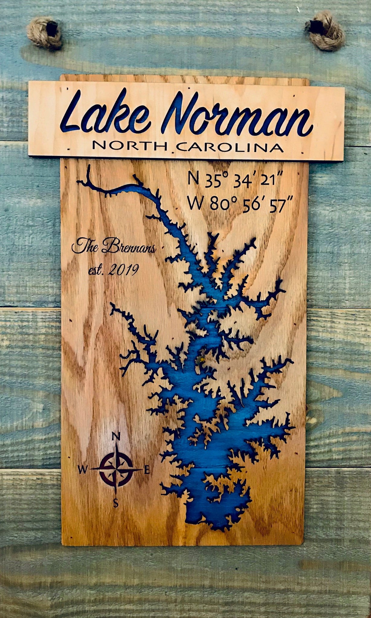 """Banner"" Laser Cut Lake Sign"