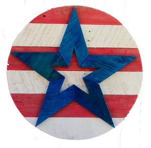 Reclaimed Wood Star with Stripes