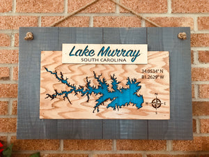 Lake Murray Banner Laser Cut Lake sign