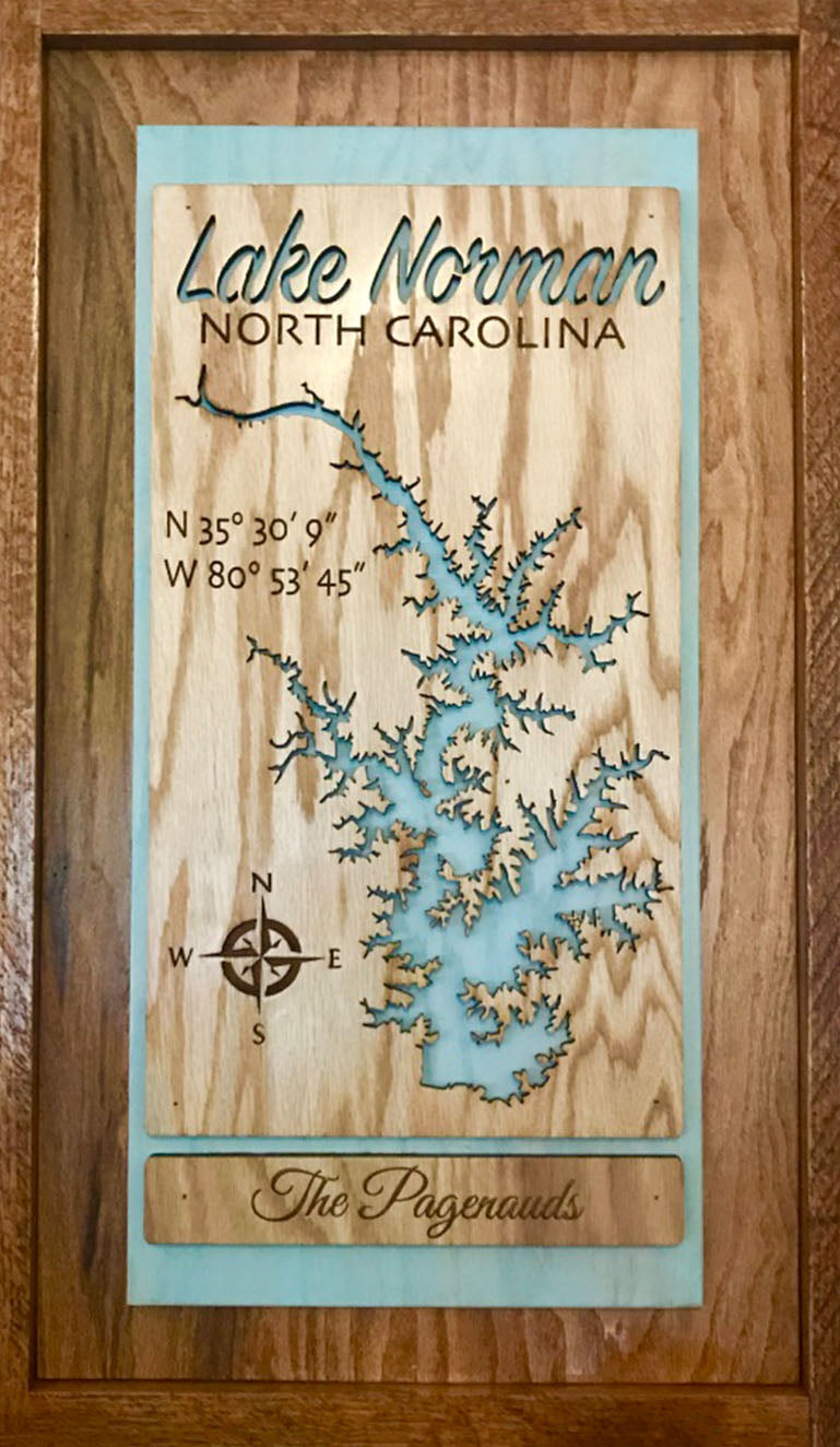 """Premier"" Laser Cut Lake Sign"