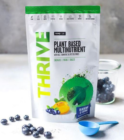 VIVO LIFE THRIVE LIVING MULTINUTRIENT BLUEBERRY & LUCUMA 240g